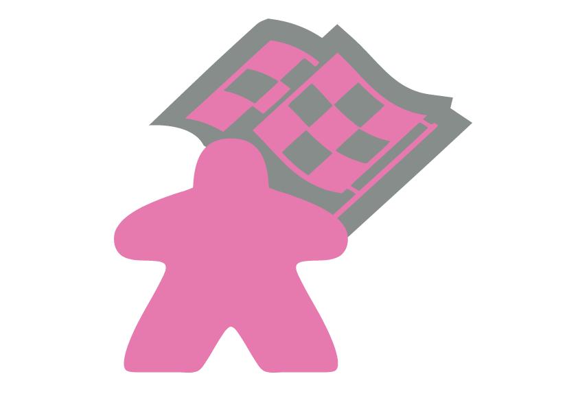La course aux jeux - Meeple Rose