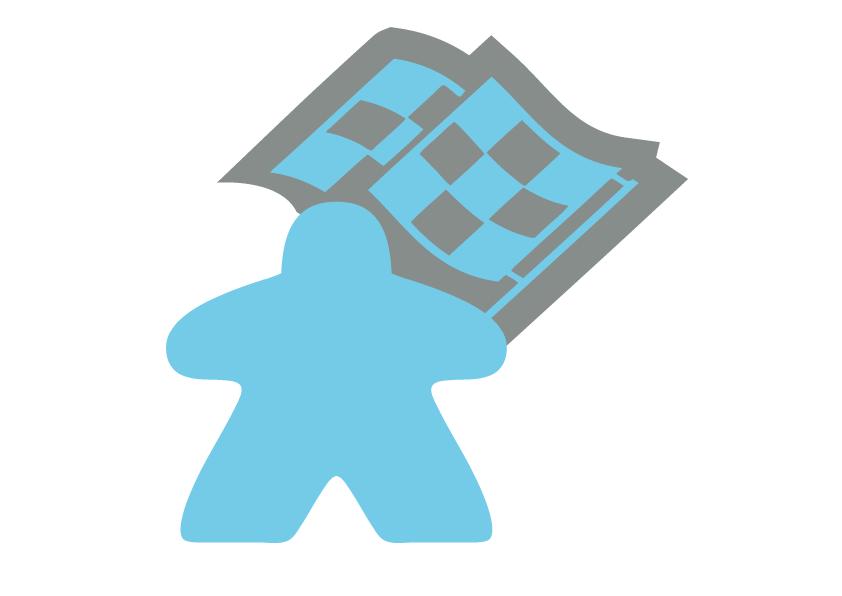 La course aux jeux - Meeple Bleu